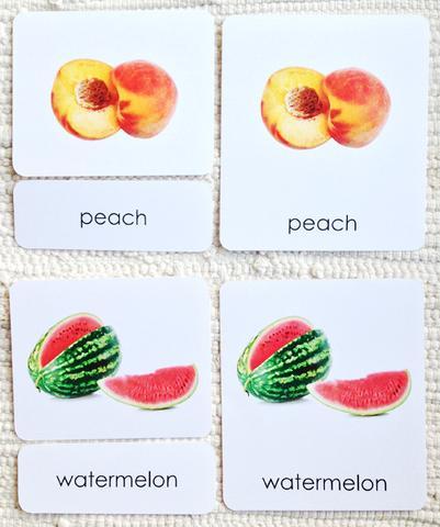 Correspondencia frutas