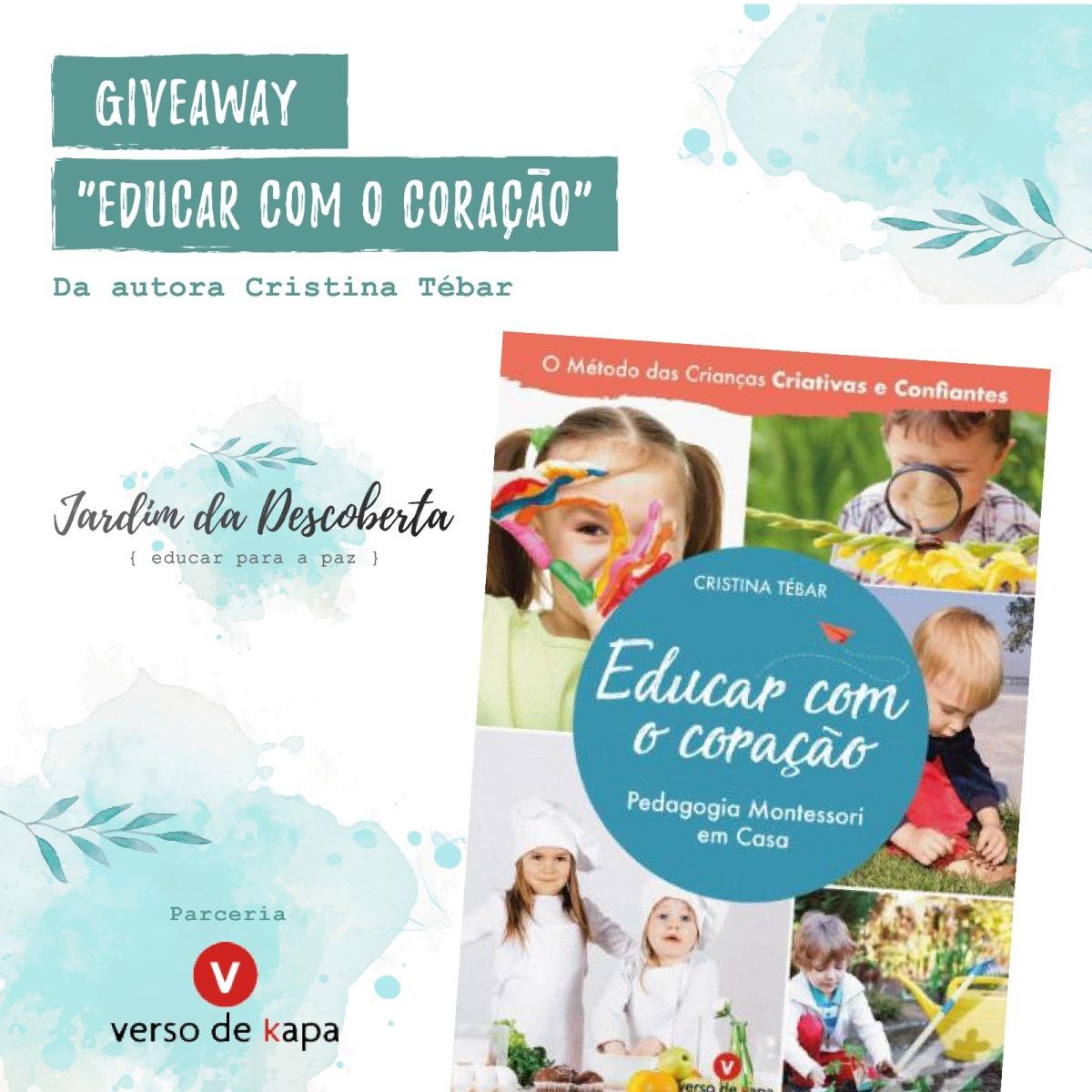 """Giveaway - Livro """"Educar com o Coração – Pedagogia Montessori em Casa"""""""